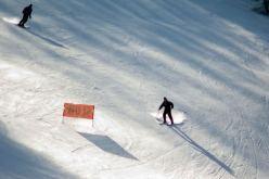 Skihütte an der Piste